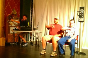 Bill Arrowood, Carrington Ritchie, Howard Mesick Rehearsing Do you Hear What I Hear? for the River City Revue