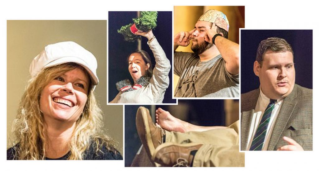 39steps_rehearsal_collage