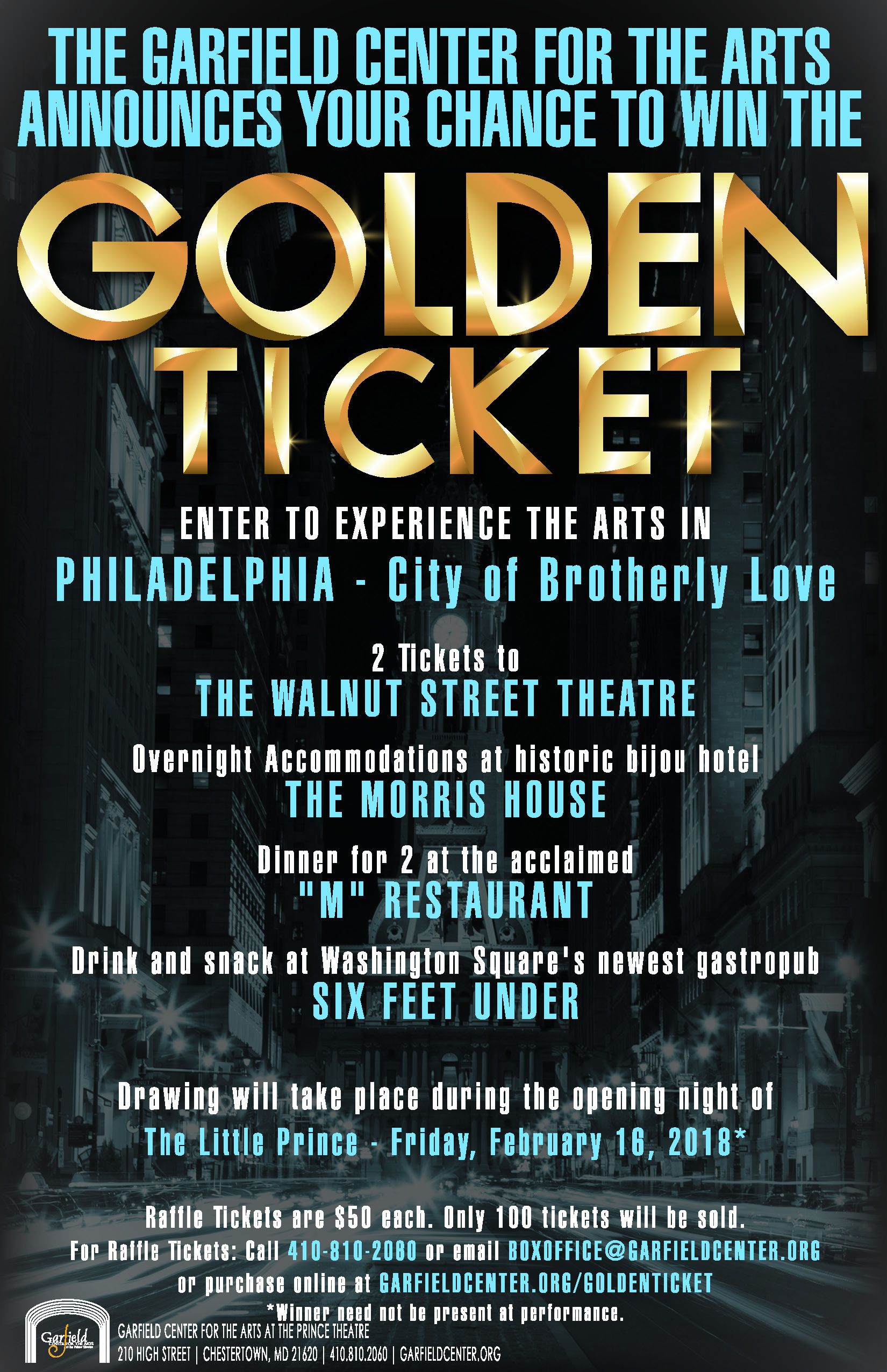 golden ticket the garfield center for the arts at the prince theatre